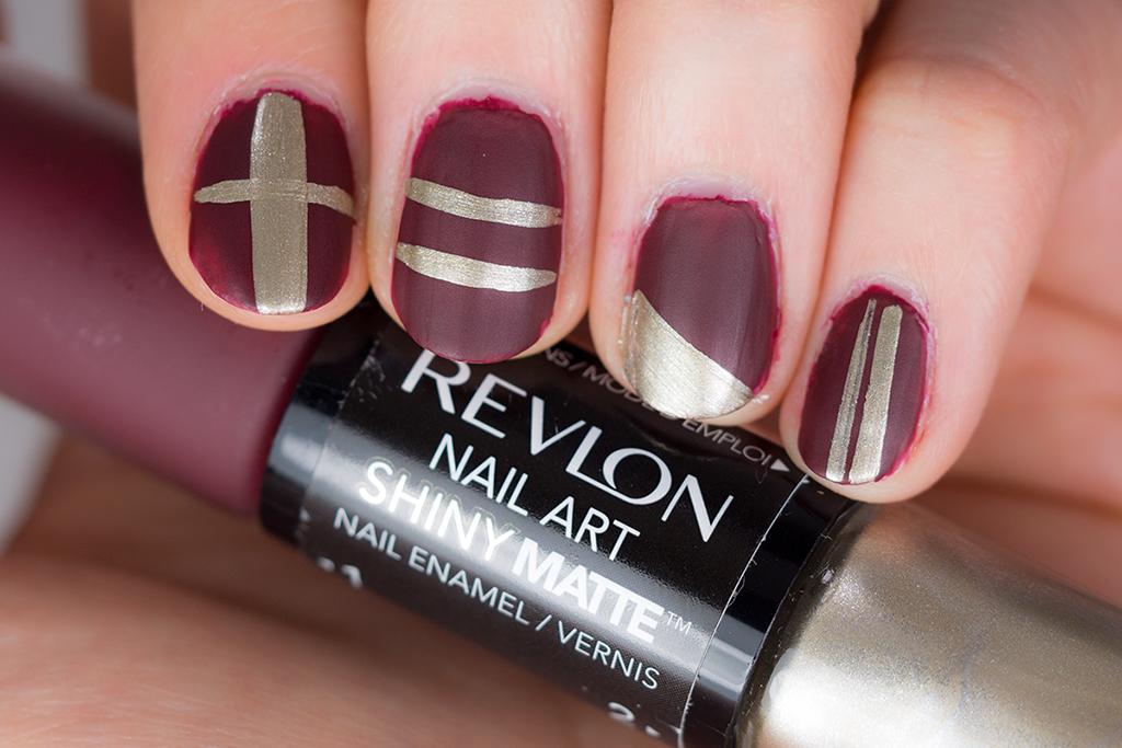 Mani Monday Revlon Nail Art Shiny Matte Review Photos